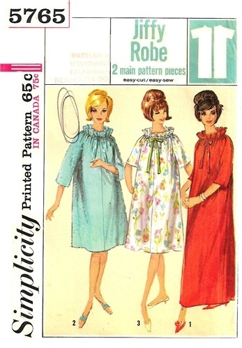 jiffy robe sewing pattern