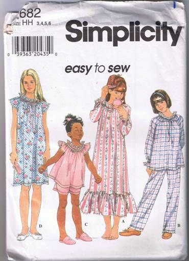 nightgown pajamas sewing pattern