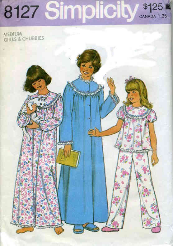 nightgown robe pajamas sewing pattern