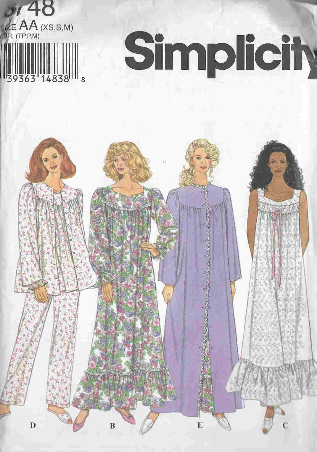robe nightgown pajamas sewing pattern