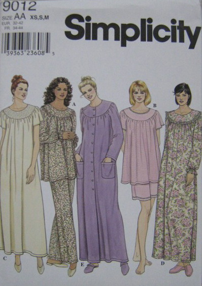 pajamas nightgown sewing pattern