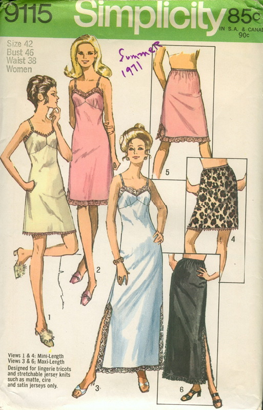 slip sewing pattern