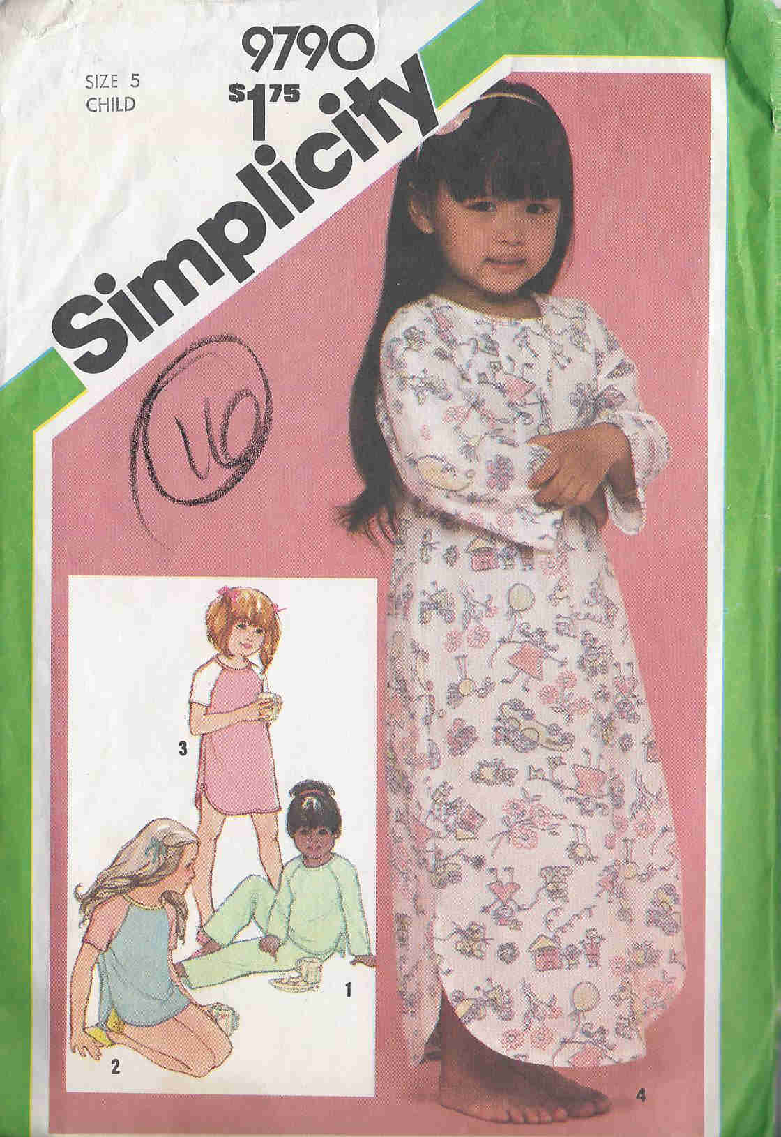 nightshirt baby dolls pajamas sewing pattern