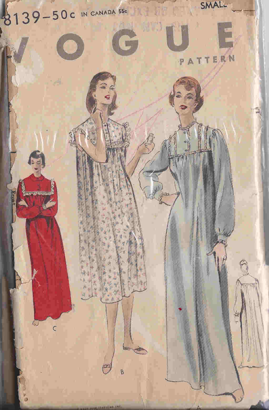 vintage nightgown sewing pattern