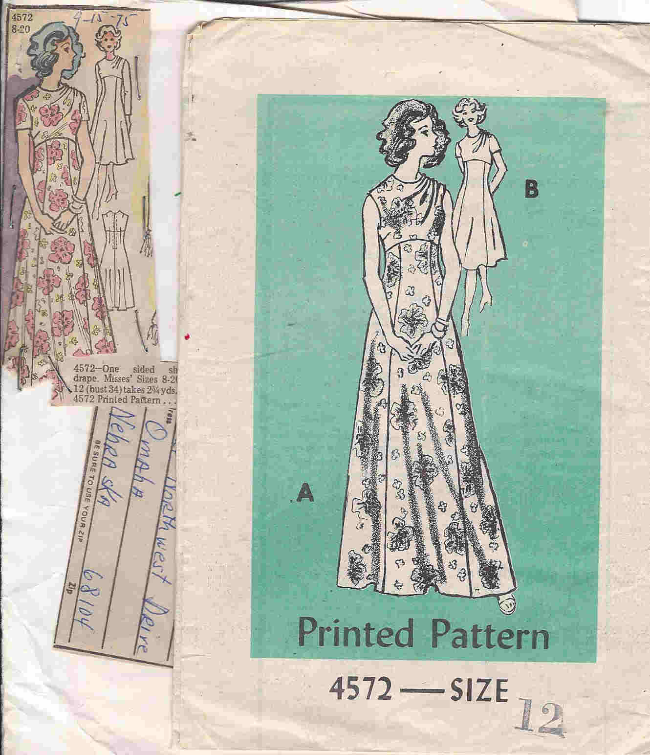 mail order dress sewing pattern