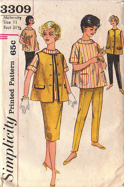 maternity skirt jacket blouse pants sewing pattern