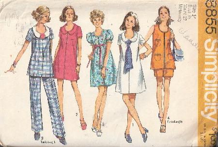 maternity dress tunic pants sewing pattern