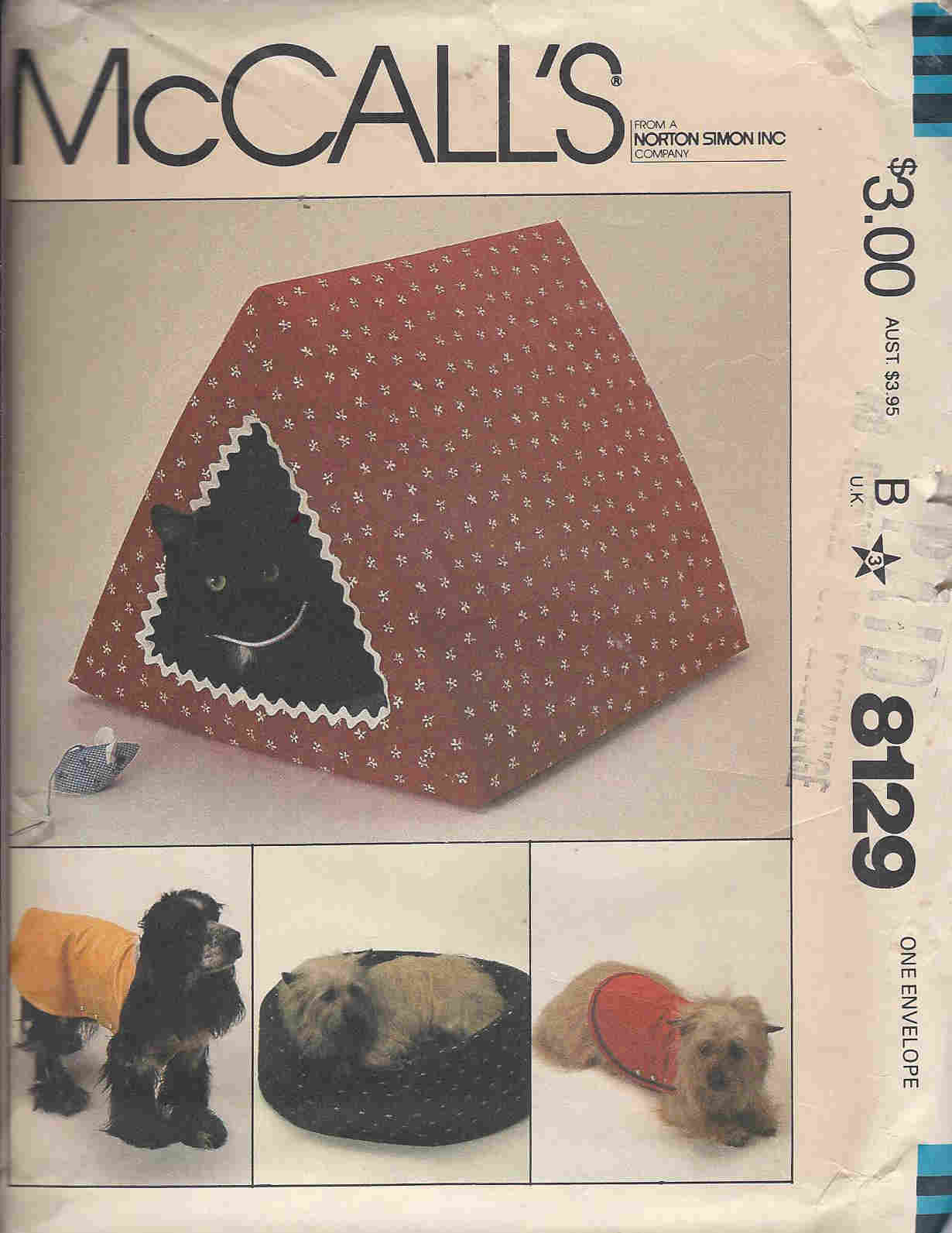 pet bed coat house sewing pattern
