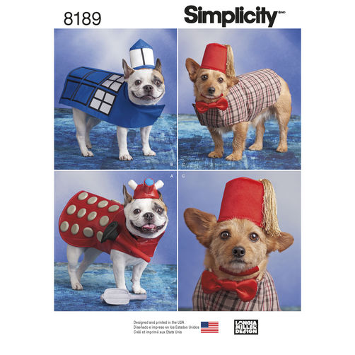 longia miller dr who dog costumes sewing pattern