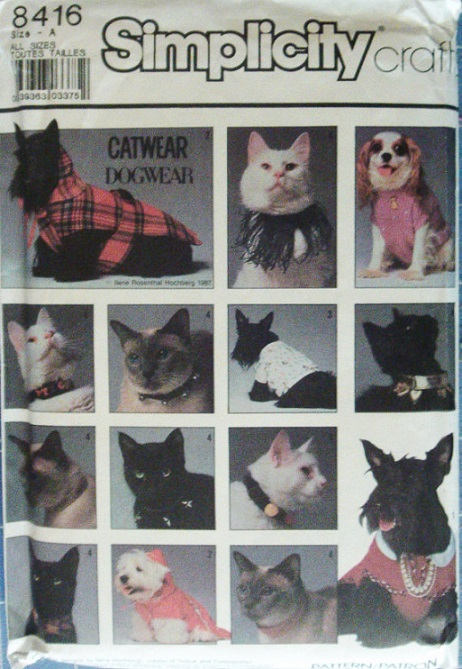 dog coat cat collar sewing pattern