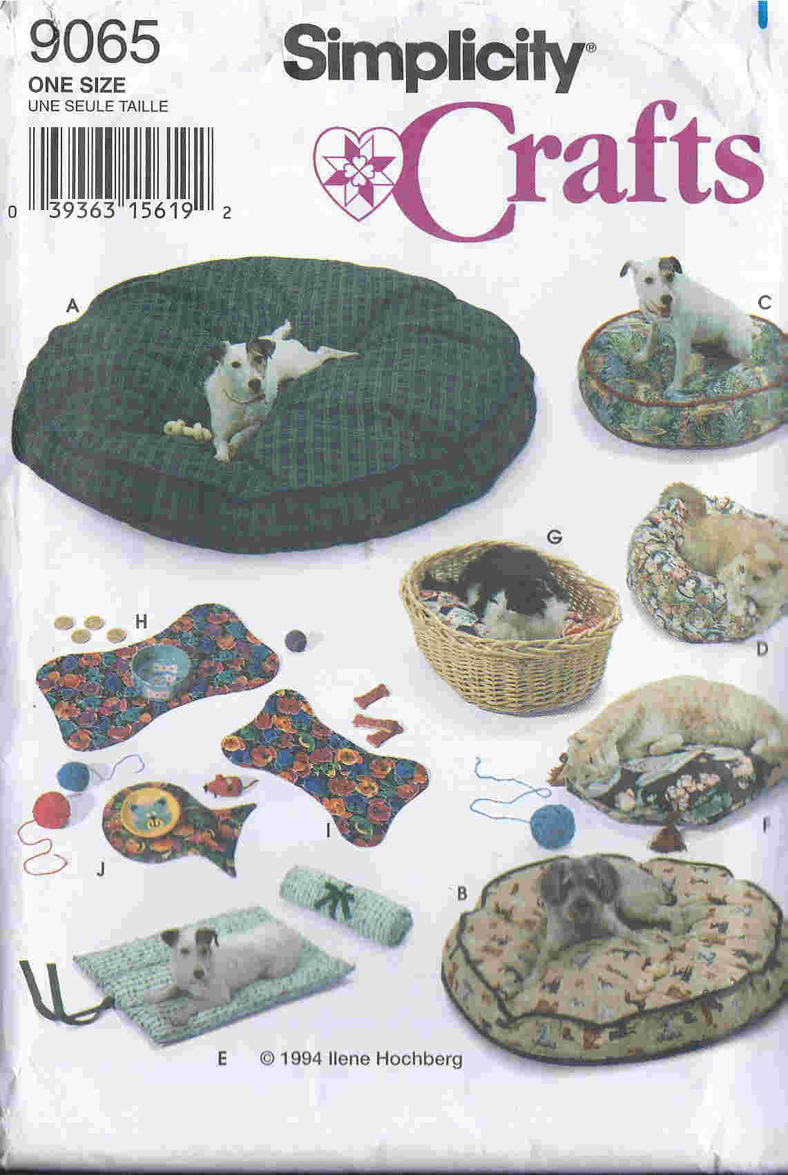 dog cat bed sewing pattern