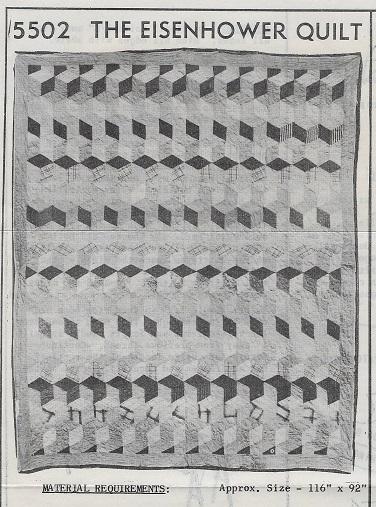 eisenhower quilt tumbling blocks pattern