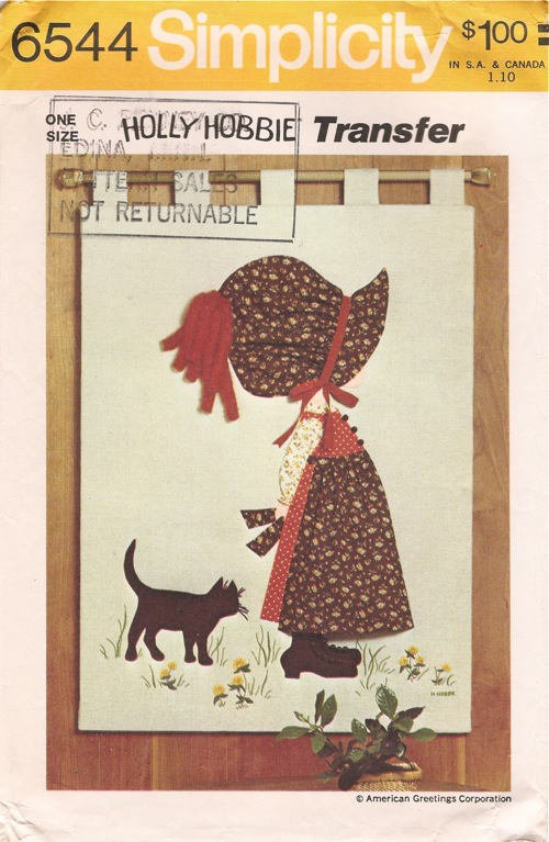 Holly Hobbie applique quilt sewing pattern