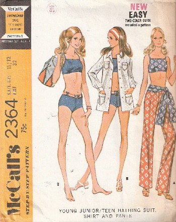 bathing suit bikini sewing pattern