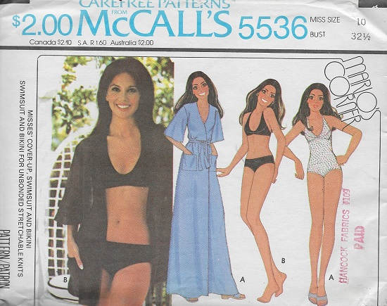 bikini cover up swimsuit sewing pattern