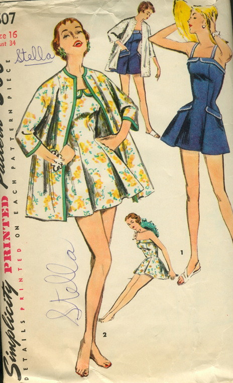 bathing suit beach coat sewing pattern