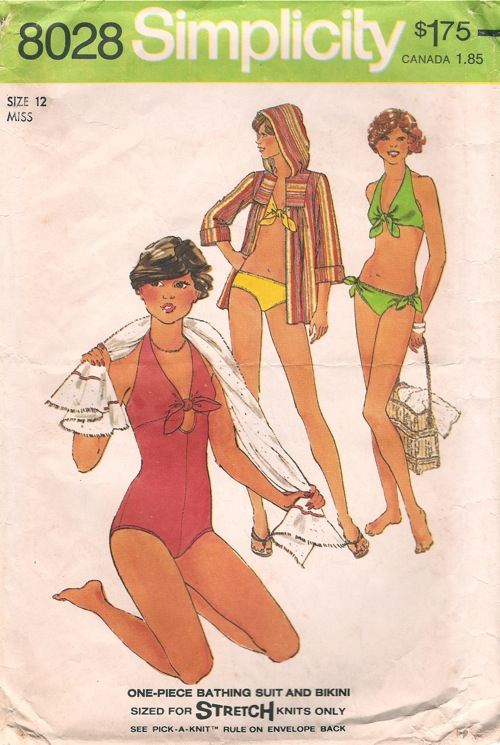 bathing suit bikini cover-up sewing pattern