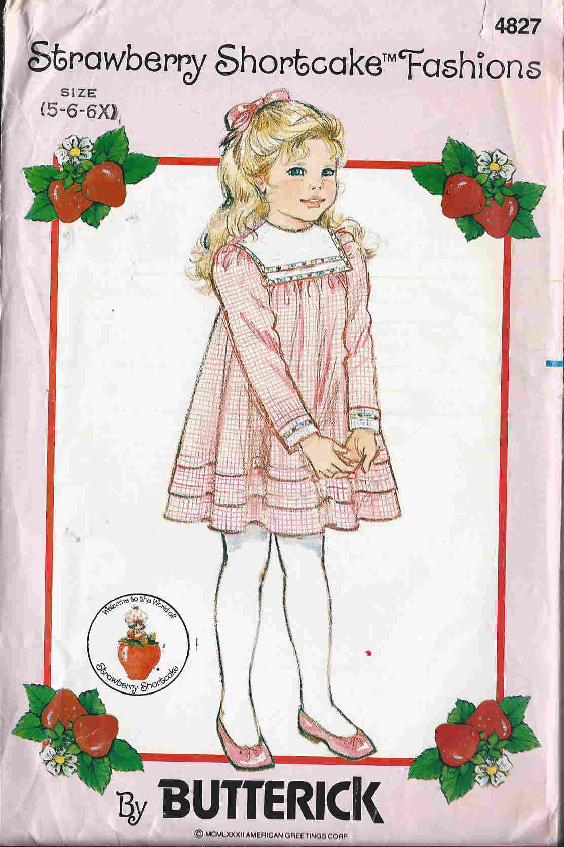 strawberry shortcake dress sewing pattern