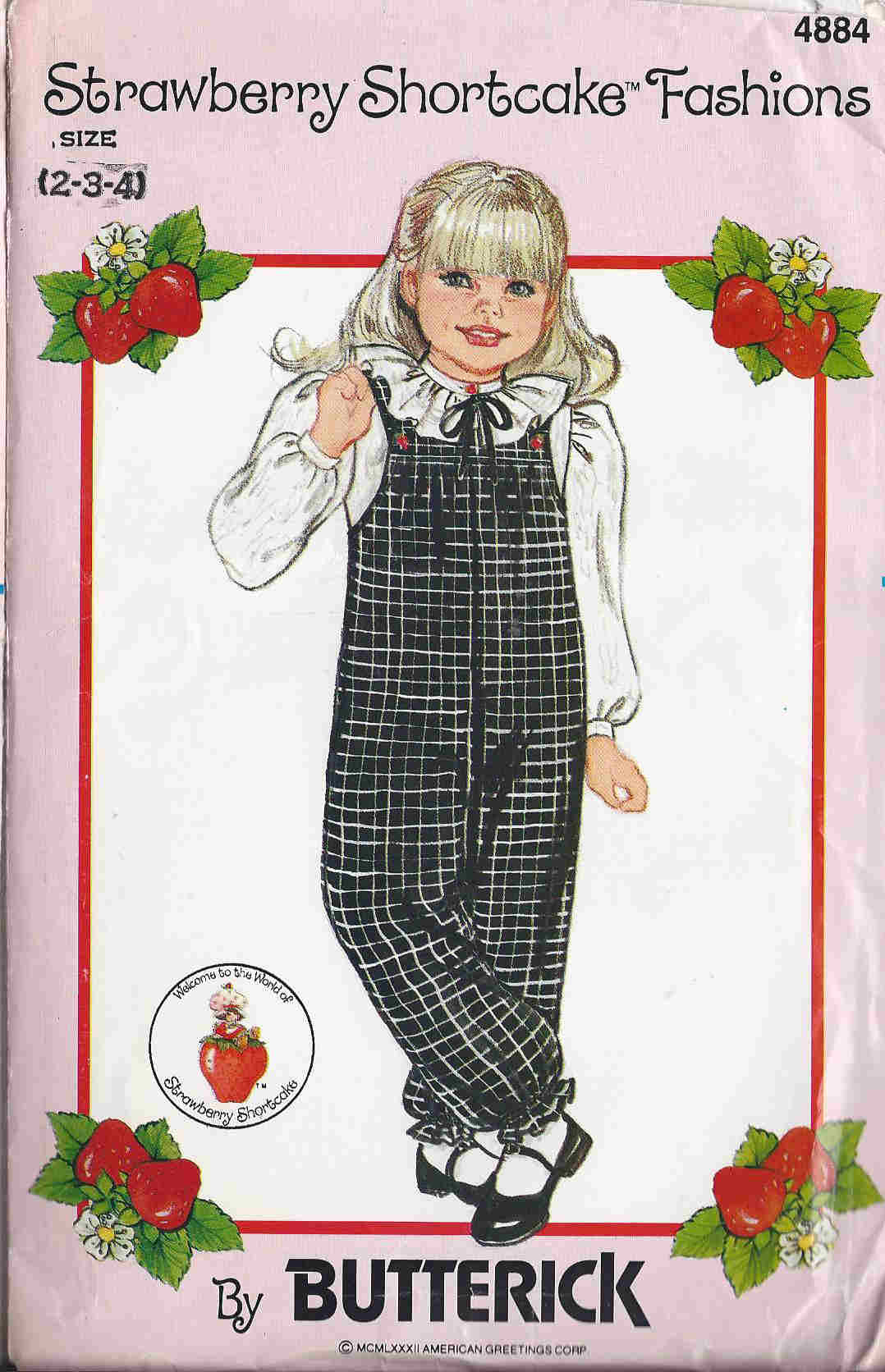 strawberry shortcake blouse jumpsuit sewing pattern