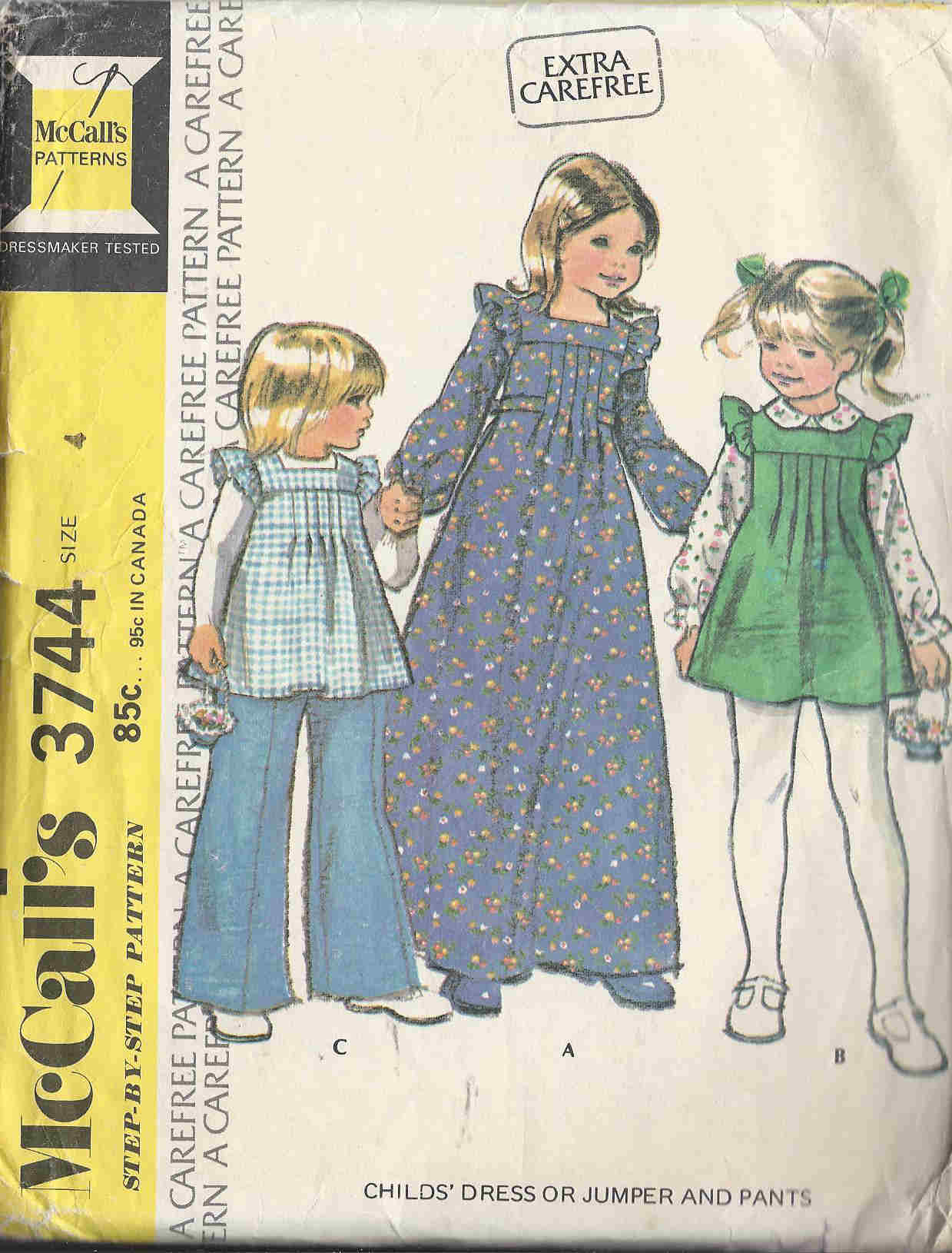 jumper pants dress sewing pattern