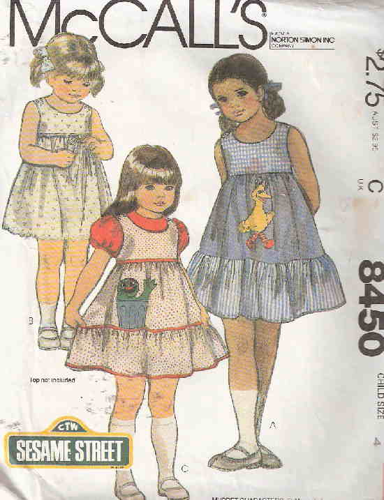 jumper sundress transfer sewing pattern