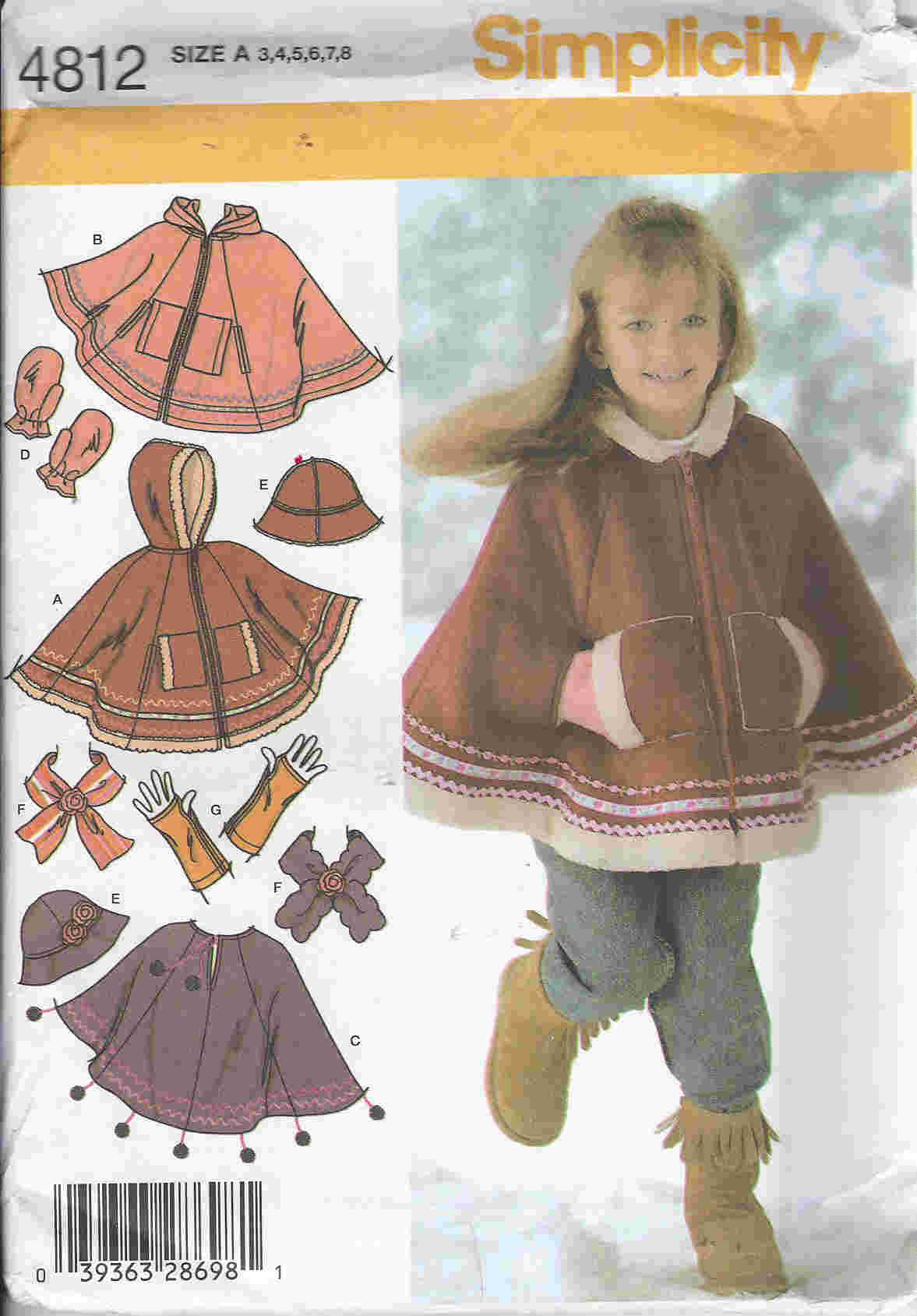 poncho hat scarf sewing pattern