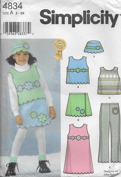 fleece jumper vest skirt pants hat sewing pattern
