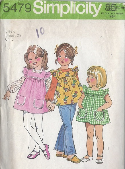 Smock dress blouse top sewing pattern