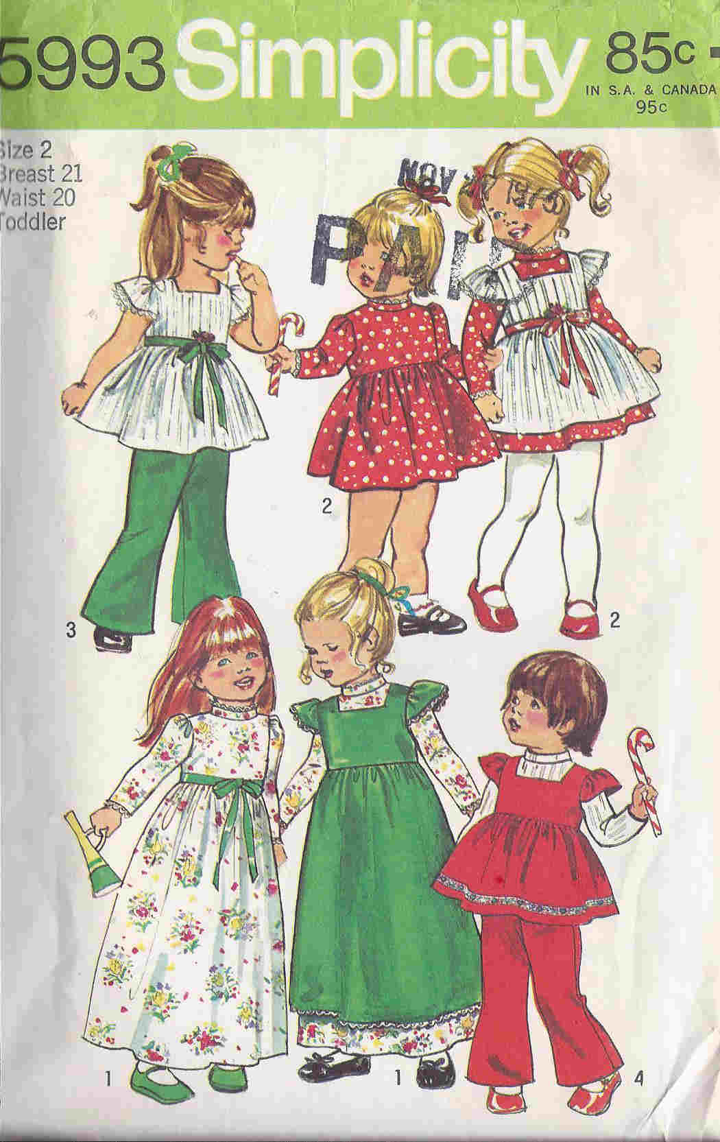 Dress Smock Bell Bottom pants sewing pattern
