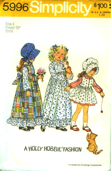 holly hobbie dress pinafore sewing pattern