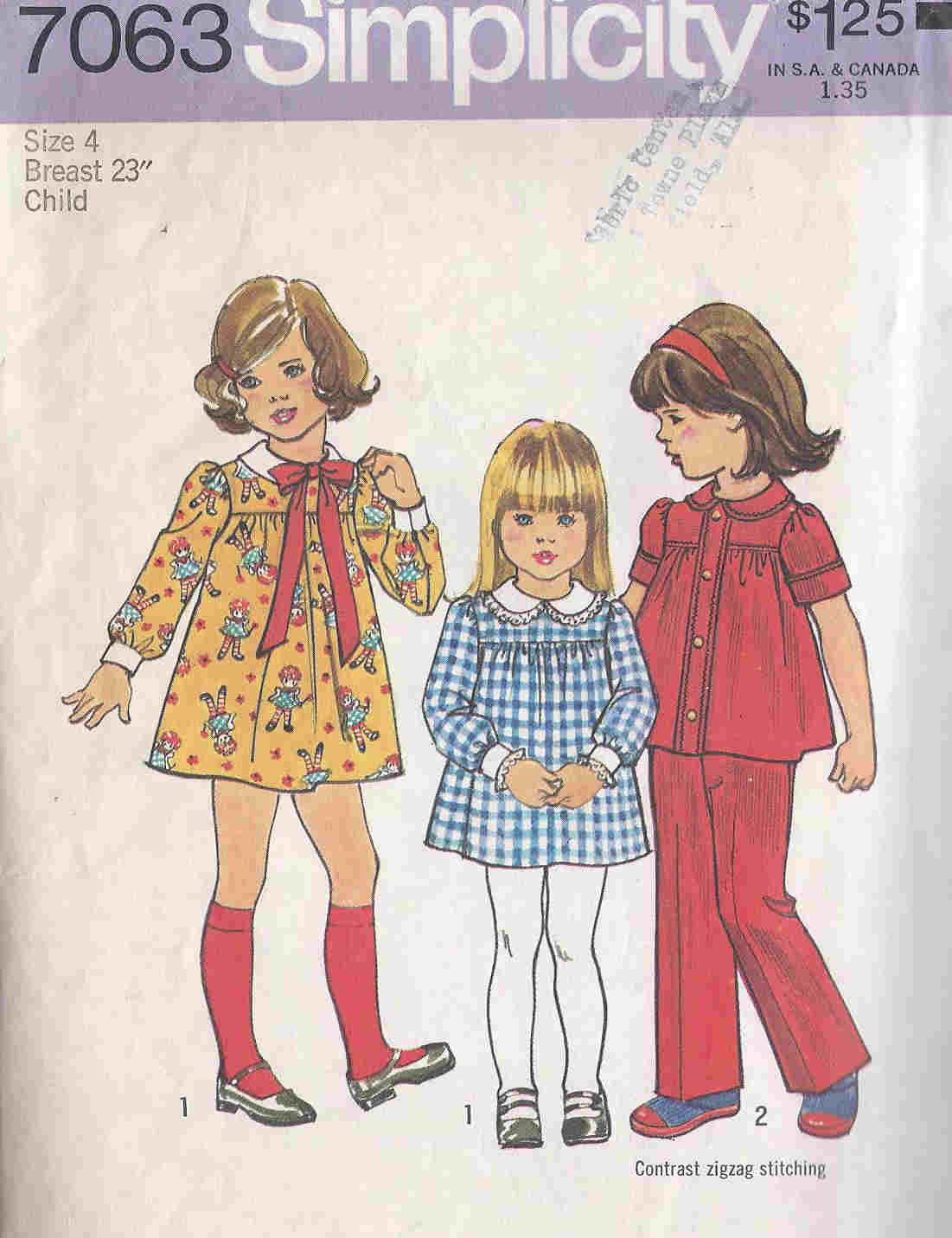 Dress Top Pants sewing pattern