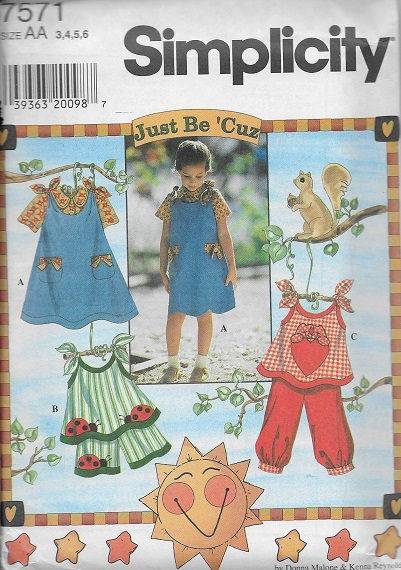 Jumper Top Blouse Shorts Pants just be 'cuz sewing pattern