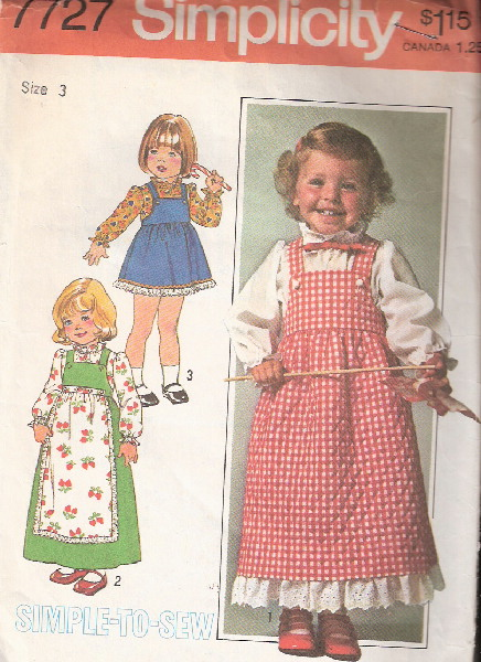 jumper apron blouse sewing pattern
