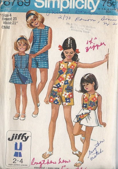 jiffy pantdress  skirt sewing pattern
