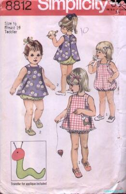 playsuit pinafore transfer sewing pattern
