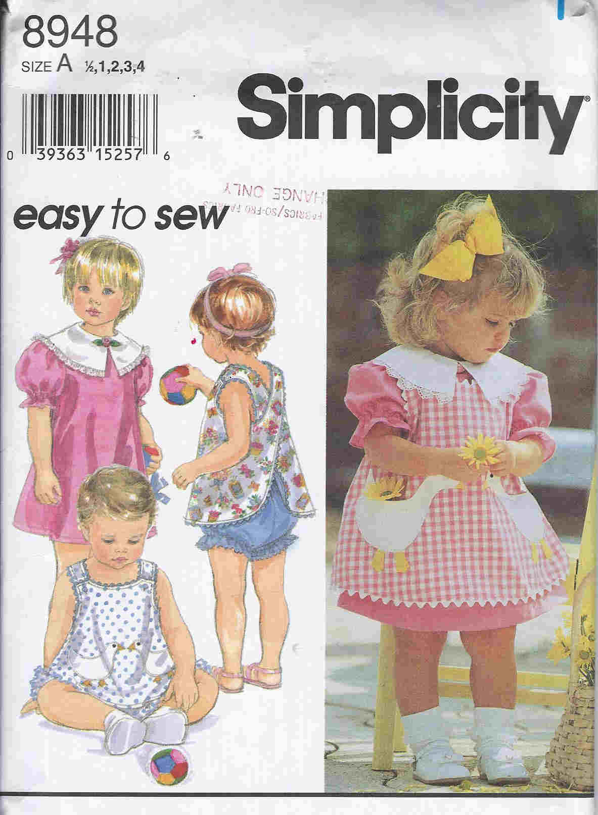 Dress Pinafore Panties sewing pattern