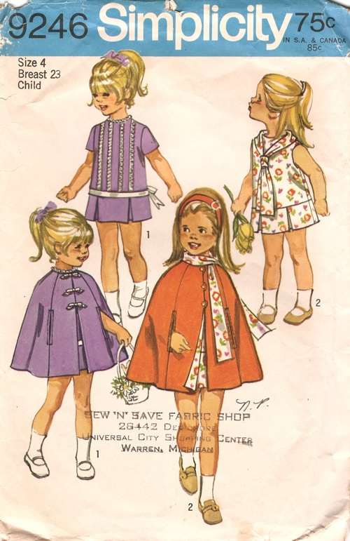 dress cape sewing pattern