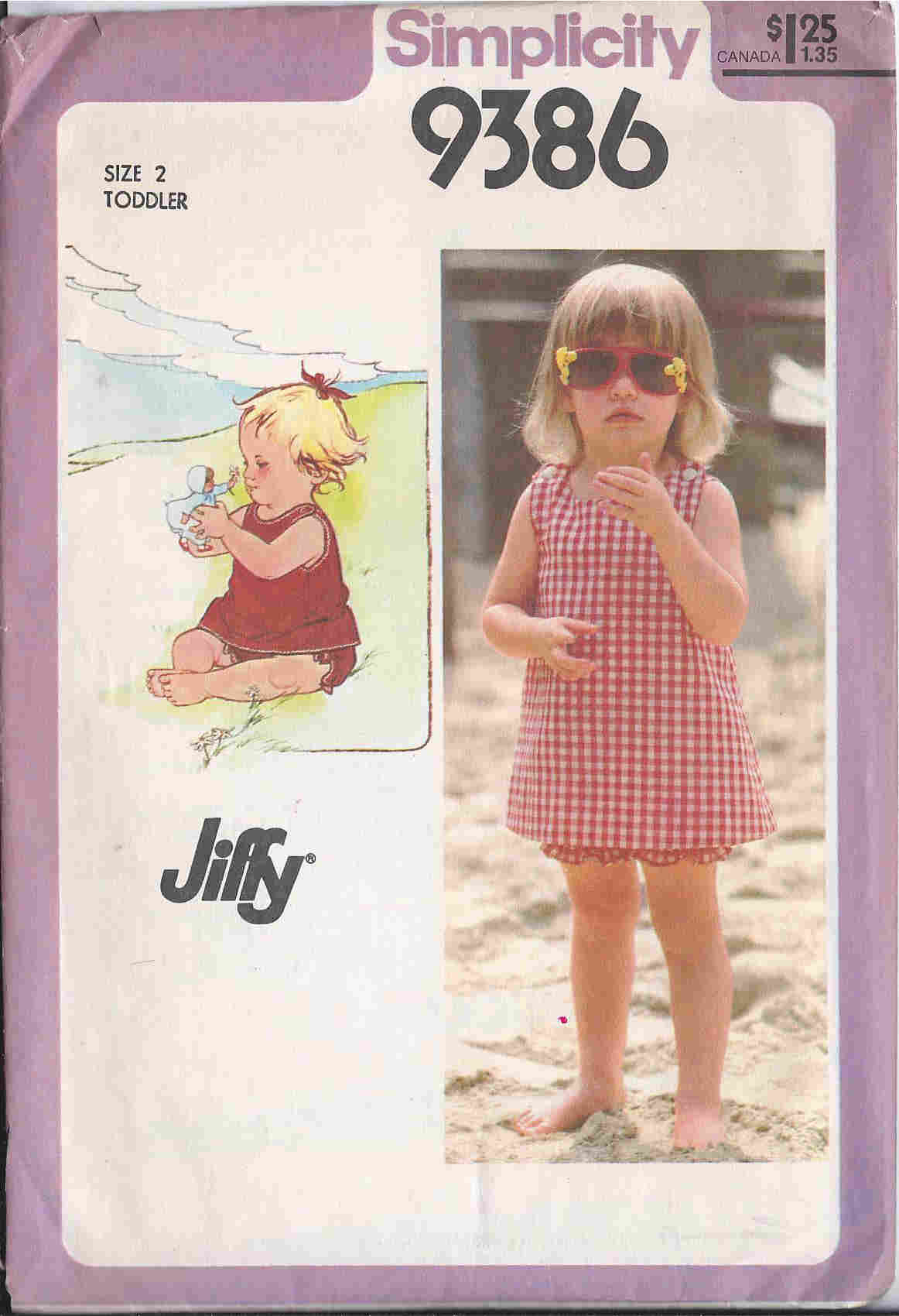 jiffy sundress bloomers sewing pattern