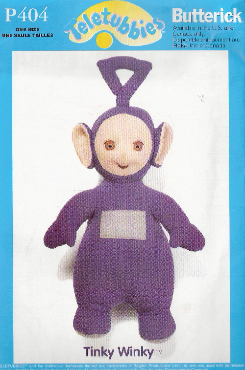 teletubbie sewing pattern