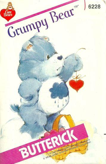 Grumpy Bear care bears sewing pattern