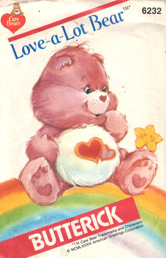 Love-A-Lot Bear care bears sewing pattern