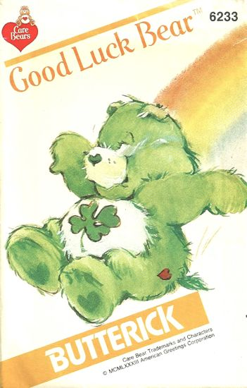 Good Luck Bear care bears sewing pattern