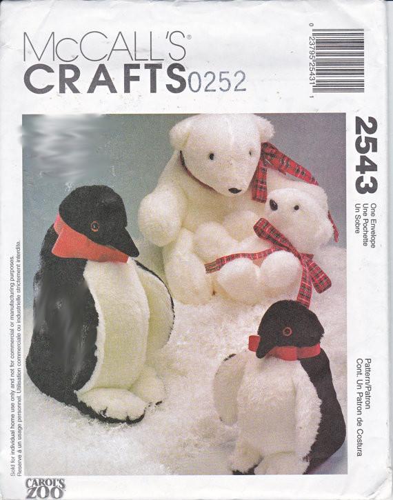 penguin polar bear sewing pattern