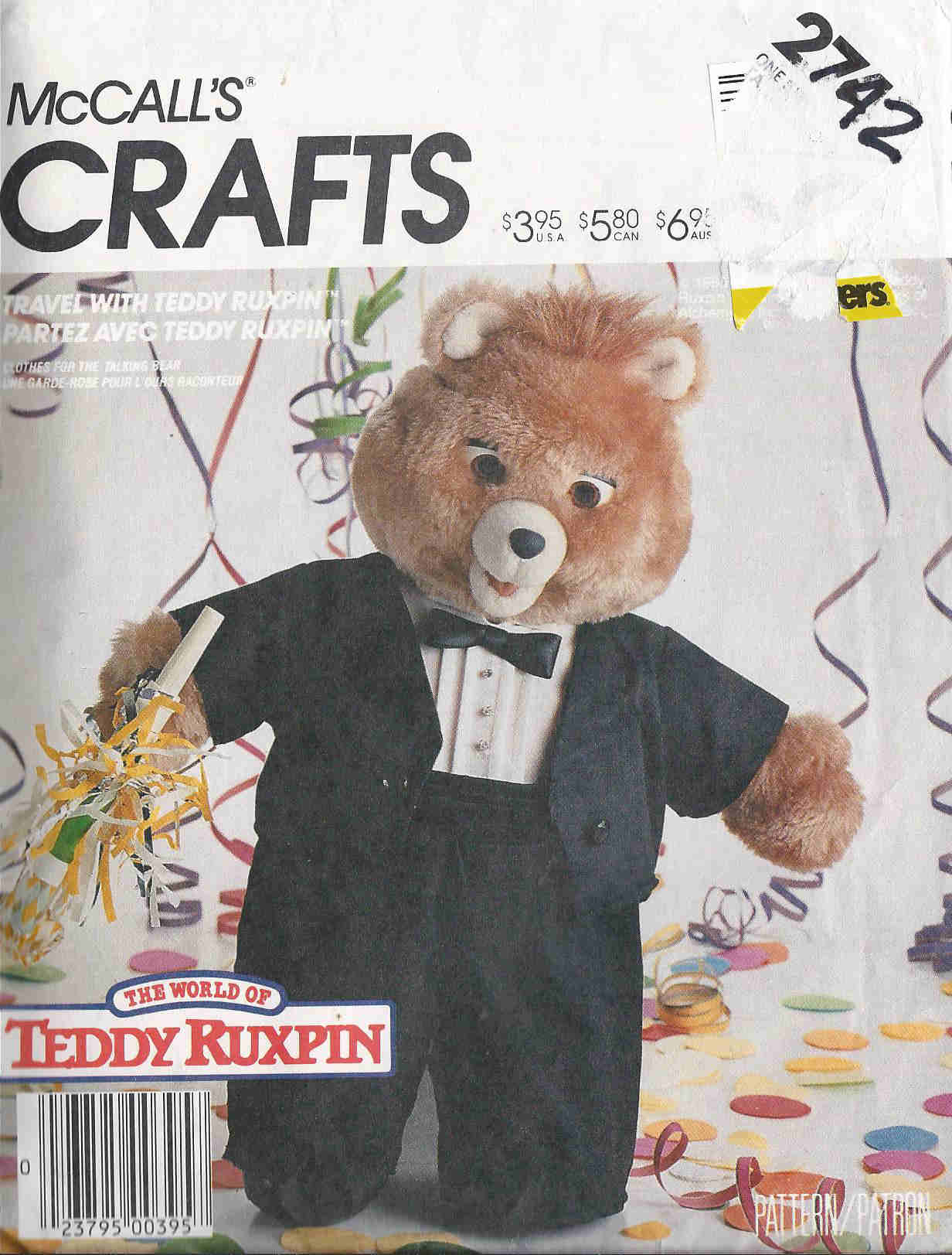 Teddy Ruxpin sewing pattern