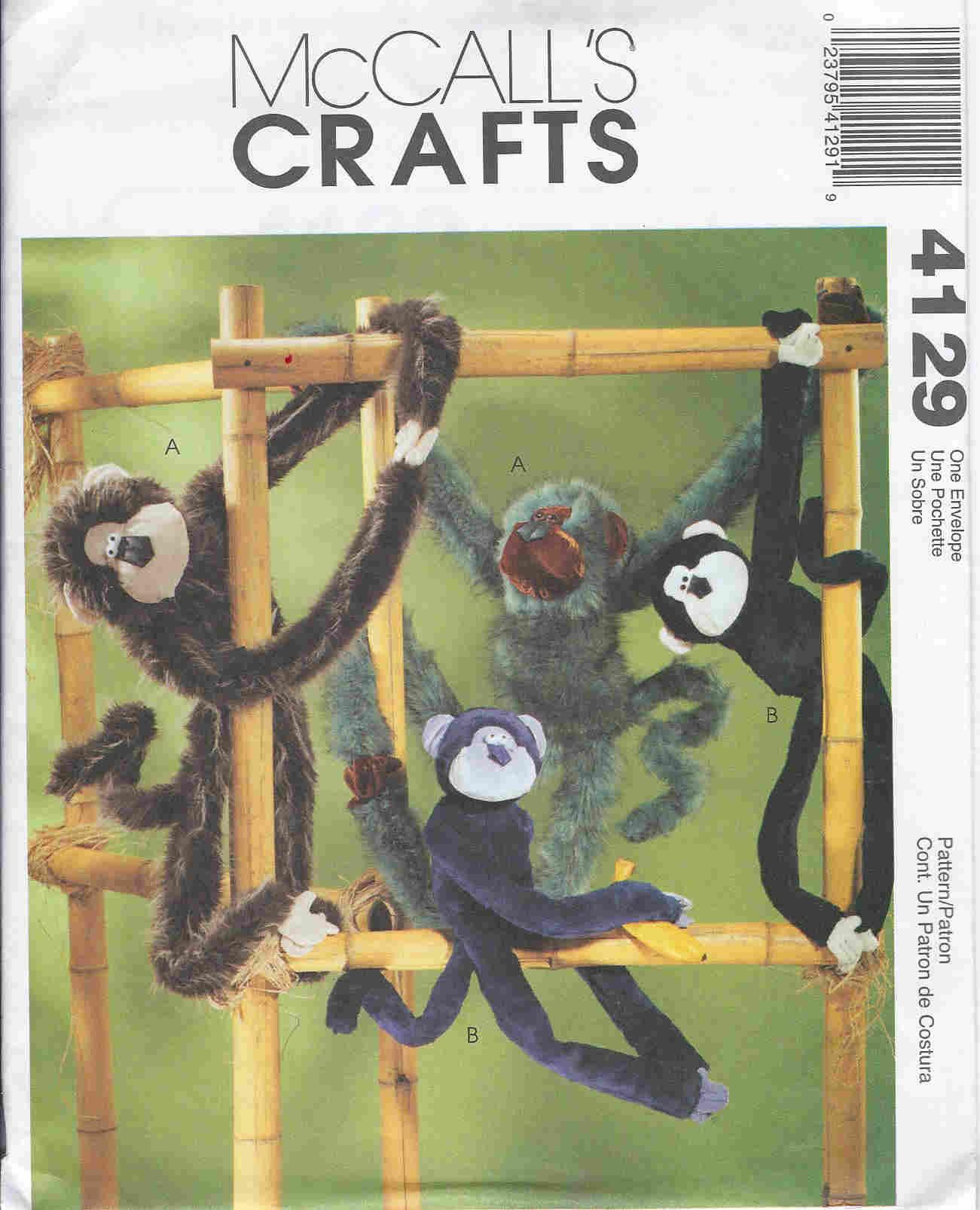 monkeys sewing pattern