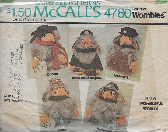 wombles sewing pattern