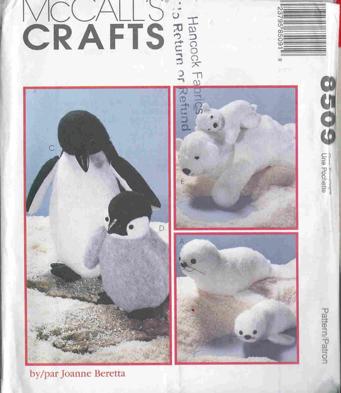 seal penguin sewing pattern