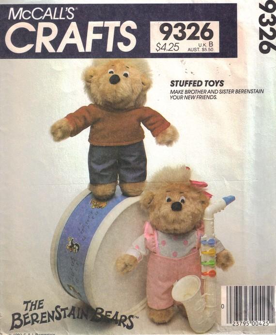 Berenstain Bears sewing pattern