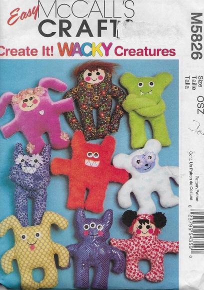 wacky creature doll sewing pattern