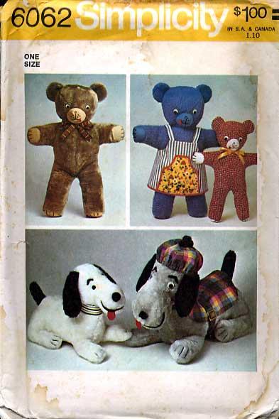 stuffed animal bear dog sewing pattern